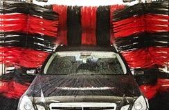 Medel i en biltvätt Fotografering för Bildbyråer