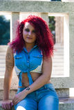 Girl fashion Style jeans Stock Photo