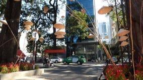 Medel på gatan i Saigon, Vietnam arkivfilmer