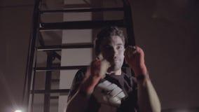 Medel som skjutas av att utarbeta för idrottsmanavslutning lager videofilmer