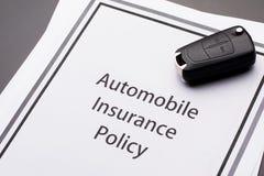 Medelförsäkringpolitik Royaltyfria Foton