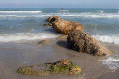 Medelhav Haifa Israel Arkivfoto