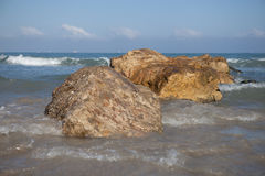 Medelhav Haifa Israel Arkivfoton