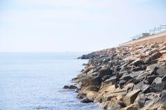 Medelhav på en solig dag Yachter i havet Royaltyfri Bild