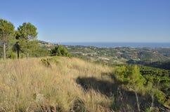 Medelhavet från berget Royaltyfria Bilder