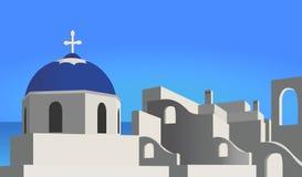 medelhavs- arkitektur Arkivbild