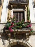 medelhavs- balkong royaltyfri fotografi