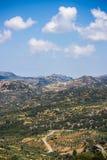 Medelhavs- berglandskap i Kreta Fotografering för Bildbyråer