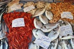 Medelhavs- fiskmarknad Arkivbild