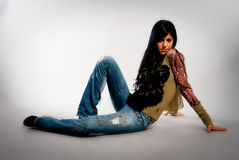 medelhavs- flicka Royaltyfri Bild