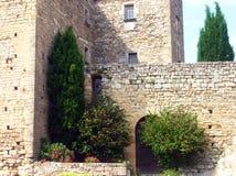 medelhavs- gammal villa Arkivbilder