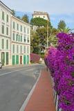 medelhavs- gatatown för blomma Royaltyfria Bilder