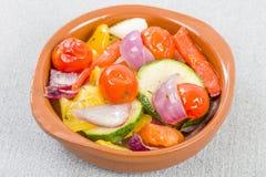 Medelhavs- grillade grönsaker Fotografering för Bildbyråer