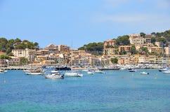 Medelhavs- hamnstad Fotografering för Bildbyråer