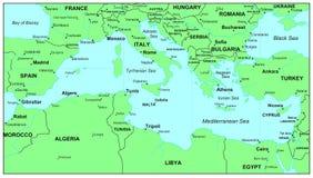 medelhavs- hav Arkivbild