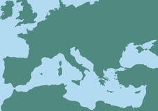 medelhavs- hav vektor illustrationer