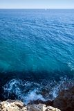 medelhavs- havssikt Royaltyfria Foton