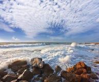 medelhavs- havsstorm Royaltyfri Bild