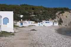 Medelhavs- hus Arkivfoto