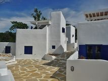 Medelhavs- hus arkivfoton