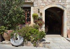 Medelhavs- hus i Grekland Royaltyfri Fotografi