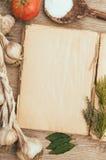 Medelhavs- kokbok arkivfoton