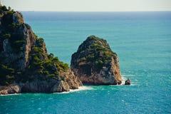Medelhavs- kust Arkivfoton