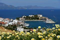 Medelhavs- kust i Datca, Turkiet Arkivfoto