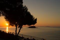Medelhavs- landskap Arkivfoto