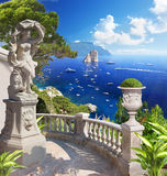 Medelhavs- landskap Royaltyfri Foto