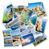 medelhavs- landskap för alicante stadsjavea Royaltyfri Bild