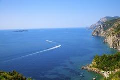 Medelhavs- landskap, Italien. Arkivbilder