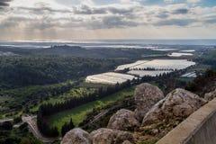 Medelhavs- landskap, övreGalilee, Israel Arkivfoto