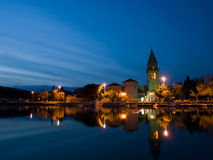 medelhavs- liten stad royaltyfria bilder