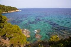 Medelhavs- liten vik Fotografering för Bildbyråer