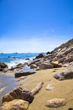 Medelhavs- liten vik Arkivfoton