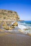 Medelhavs- liten vik Arkivbilder