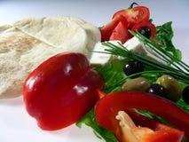 medelhavs- lunch Arkivfoton