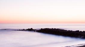 medelhavs- near solnedgång för croatia dubrovnik öläge Arkivfoto