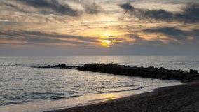 medelhavs- near solnedgång för croatia dubrovnik öläge Arkivbilder