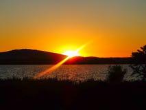 medelhavs- near solnedgång för croatia dubrovnik öläge Royaltyfria Bilder