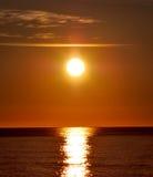medelhavs- over soluppgång Fotografering för Bildbyråer