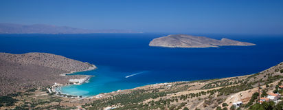 medelhavs- panoramashoreline Royaltyfri Foto