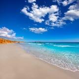 Medelhavs- paradis för Menorca Platja de Binigaus strand Royaltyfri Foto