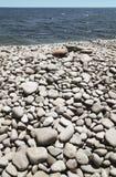 Medelhavs- Pebble Beach i Almeria Andalusia Spanien Royaltyfri Foto
