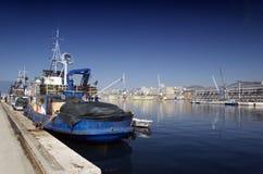 Medelhavs- port av Rijeka Arkivfoton