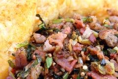 medelhavs- potatis för maträttmeat royaltyfria foton