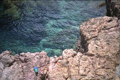Medelhavs- rent hav Arkivbild