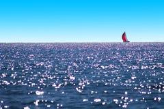 medelhavs- segelbåthav Royaltyfri Foto