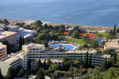 Medelhavs- semesterort Arkivfoto
